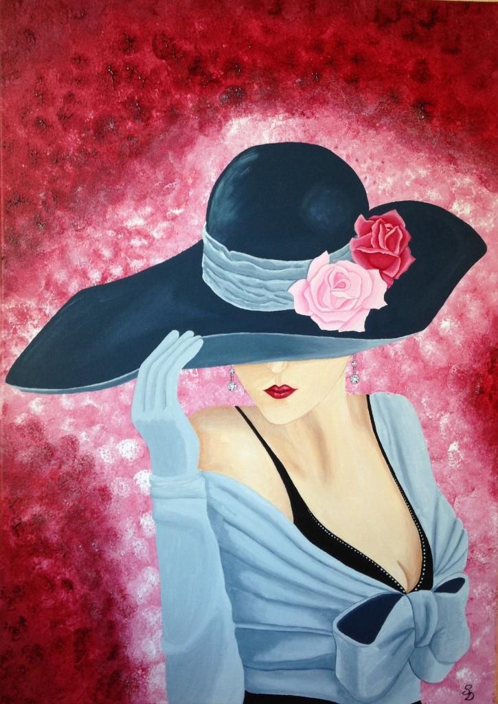 Femme élégante au chapeau