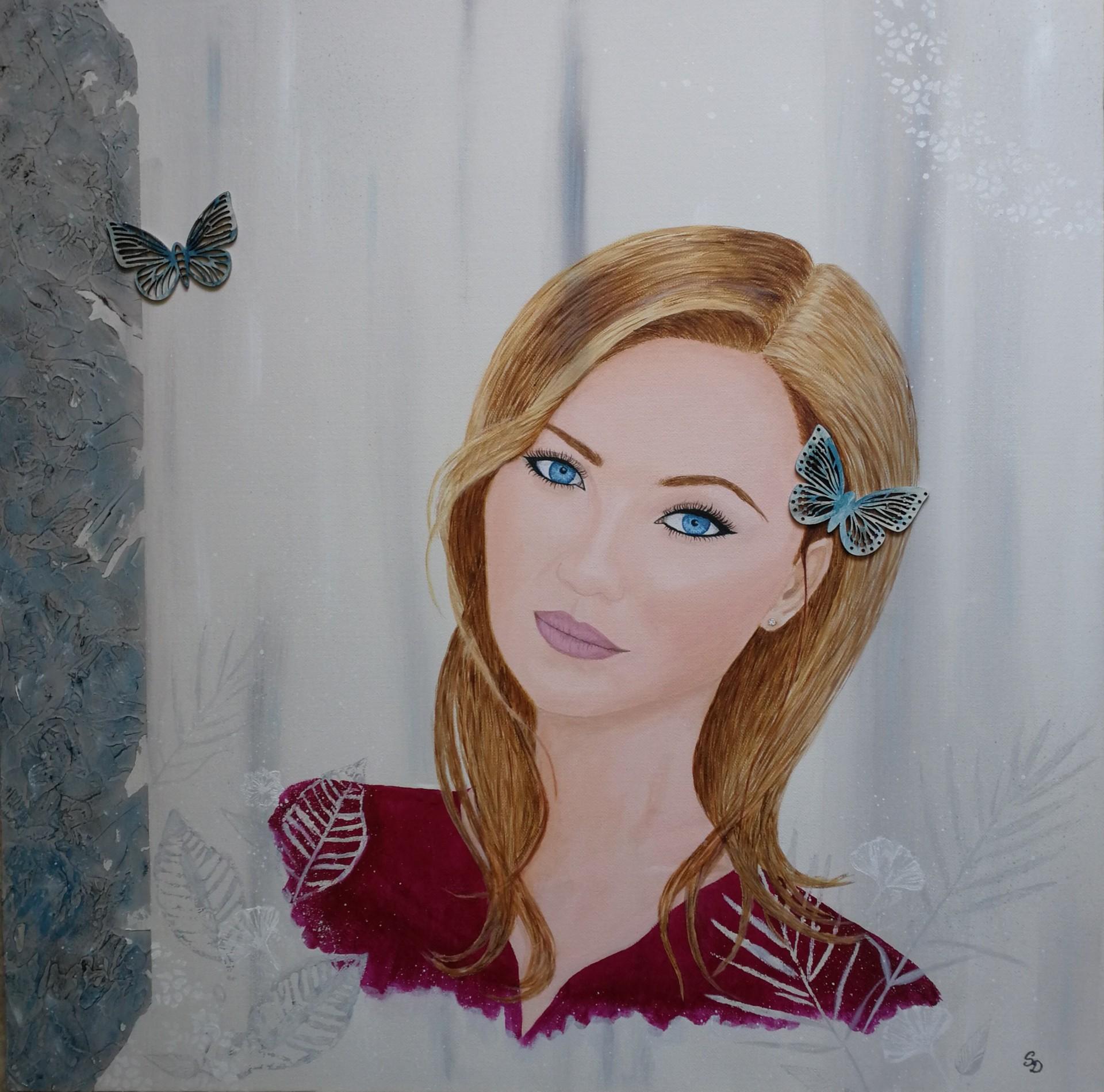 Tableau portrait joli femme