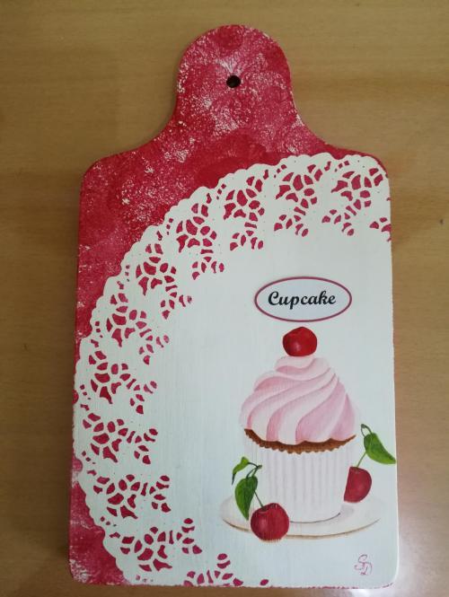 Planche en bois Cupcake