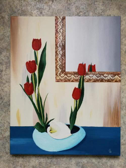 Le miroir aux tulipes