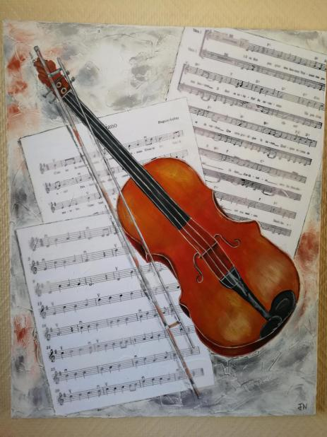 Le violon et ses partitions
